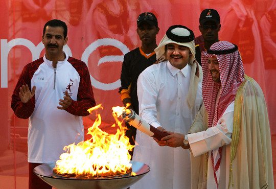 Torches and Portable Cauldrons for the Doha 2006 Asian Games