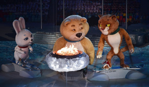 Natural gas fired Ice Bowl, Sochi Winter Games, 2014